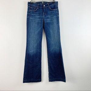 7 For All Mankind Dojo Flare Medium Wash Jeans